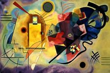 YELLOW RED BLUE 1925 MUSICIANS FINE ABSTRACT PAINTING BY WASSILY KANDINSKY REPRO