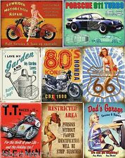 Motorcycle Car Garage Tin Sign Shed Man Cave Gift Vintage Retro Metal Tin Sign