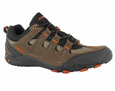 Mens Hi-Tec Rapido Brown Leather Trail Hiking Walking Trainers Shoes Size 7-13