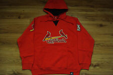 ST. LOUIS CARDINALS NEW MLB MAJESTIC FLY BALL HOODED SWEATSHIRT