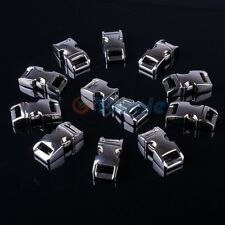 "5-200 pcs 3/8"" (10mm) Metal Side Release Buckle for Paracord Bracelet Silver"