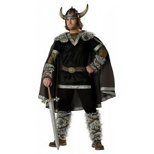 Viking Costume Mens Medieval Barbarian Warrior Adult Halloween Fancy Dress