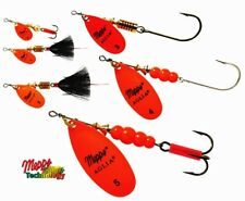 Mepps Aglia Hot Orange Blade Spinner Fishing Lure - Choice of Qty, Size & Weight