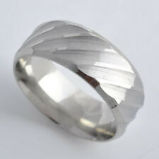 Stainless Steel Mens Womens Band Ring SZ 8 9 10 11 12,So Cool,P1002-P1006