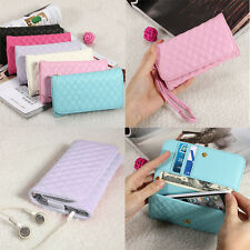 """Card Wallet Purse Leather Case For 4.5"""" 5'' 5.5"""" Inch Mobile Phone"""