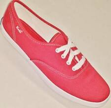NEW Women's Red KEDS CHAMPION WF31300 Canvas Casual Walking Sneakers Shoes