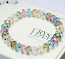 Fancy Lucky Colorful Love Crytsal Beads Ball Stretch Friendship Bracelet Elastic