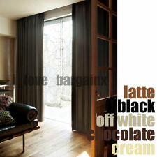 QUALITY TEXTURED BLOCKOUT EYELET CURTAINS 100% BLACKOUT ROOM DARKENING FABRIC