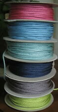 5 Metres X 3mm WOVEN NYLON CORD in 6 COLOUR VARIATIONS