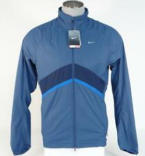 Nike Mesh Lined Zip Front Wind Resistant Blue Running Jacket Mens NWT