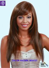 MIDWAY BOBBI BOSS M672 LESLIE LONG STRAIGHT SYNTHETIC FIBER WIG WITH BANGS