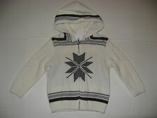 Gymboree PARTY ANIMAL Boys size 12 18 24 m 2T 3T 4T Fair Isle Hooded Sweater NWT