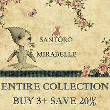 Santoro Mirabelle Collection ALL PRODUCTS: Papers, Scrapbooks + Embellishments!