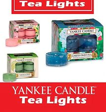 New Yankee Candle Scented Tea Lights Box of 12. Many Fragrances Available