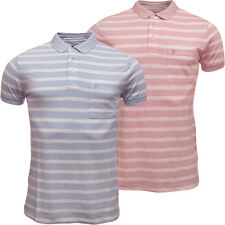 Mens Polo Shirt Fcuk Short Sleeve Polo's Blue or Pink S M L XL