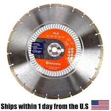 "Husqvarna FLX 14"" Diamond Blade 1"" 20MM Arbor Concrete Brick Asphalt Chop Saw"