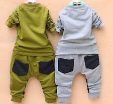 New baby boys outerwear+long Pants Set Clothes boys Costume Hot Fashion