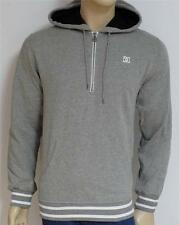 DC Shoes Mens Heather Gray Half-Zip Pullover Hoodie Sweatshirt Jacket New NWT