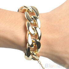 Fashion Womens Chunky Curb Chain Link Plastic Bracelet New Arrival BD4U