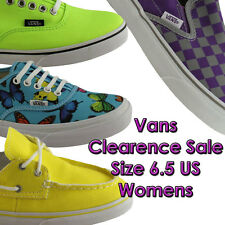 SIZE 6.5 US WOMENS/LADIES VANS CLEARANCE SHOES/SNEAKERS/CASUAL/SKATE/FLATS