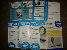 Stockport County 1961/62 to 1967/68 HOME programmes choose from list FREE UK P&P