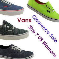 SIZE 7 US WOMENS/LADIES VANS CLEARANCE SHOES/SNEAKERS/CASUAL/SKATE/FASHION/FLATS