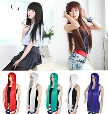 Cute Long Straight High Temperature Synthetic Wire Wig Cosplay Party Wig Hair