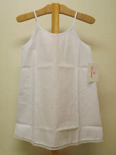 NWT GIRLS WHITE COTTON FULL LENGTH SLIP PETTICOAT SIZES 12M 24M 2T 4 5 6
