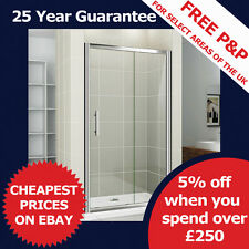 Glass Sliding Shower Enclosure Door Bathroom Walk In Screen Cubicle Stone Tray