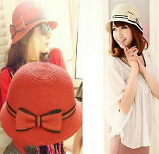 New Women's Ladies Brim Summer Beach Sun Hat Straw floppy Elegant Bohemia cap