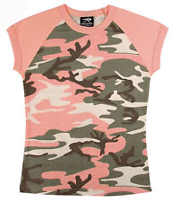 t-shirt camo subdued pink camouflage womens raglan slim fit rothco 8079
