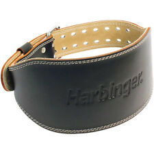"Harbinger 6"" Padded Leather Weight Lifting Belt"
