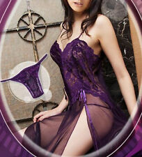 Lingerie Nightgown Gown Long Babydoll Underwear Plus Size 6 8 10 12 14 16 18 20
