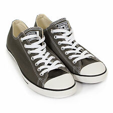 Converse Men's All Star Lean Ox Canvas Lace-Up Trainer Charcoal