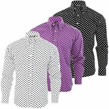 Mens Retro shirt by Relco Polka Dot Button Down Long Sleeve Vintage Skin Ska