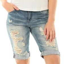 ONLY coole Jeans Shorts Hose BERMUDA DENIM DESTROYED Boyfriend SHORTS NEU