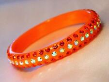 Bangle Bracelet Summer Color Thin Crystal Lucite in 8 Colors