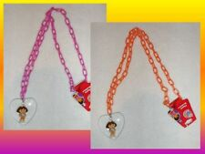 Dora the Explorer Nick Jr Plastic Chain Charm Necklace with Heart Charm New