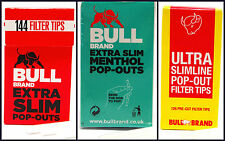 Bull Brand Extra Slim & Ultra Filter Tips Choose Amount - Pop Out Tip Like Swan