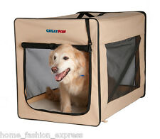 Great Paw Chateau Folding Soft Sided Dog Cat Pet Crate Small Medium Large & XL