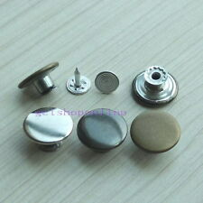 10 25 50 Choice Look Inside Fine Jean Tack Snap Button Stud Rivet NO-SEW 17mm