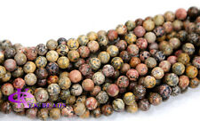 Discount For Wholesale Natural Leopard Skin Jasper  Round Loose Beads 4-14mm