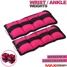 MAXSTRENGTH Wrist Ankle Weights Leg Exercise Gym Training Velcro Straps 250g x 2