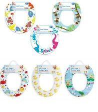 SOFT PADDED BABY CHILD KIDS POTTY TRAINER TRAINING TOILET SEAT PRINTED DESIGN