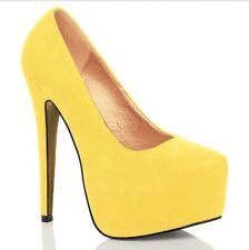 NEW WOMENS CONCEALED PLATFORM THIN HIGH HEELS COURT SHOES SIZE 4 5 6 7 8 9 10 11