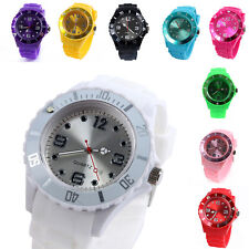 Colored Unique New Jelly Ice Watch Rubber Silicone Men's Women's Wrist Watch