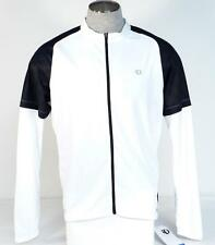 Pearl Izumi Attack Full Zip Long Sleeve White & Black Cycling Jersey Mens NWT