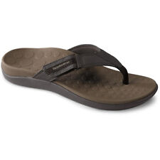 Vionic Orthaheel Ryder Chocolate/Tan Orthopedic Flip Flop Mens sizes 7-13/NEW