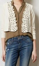 Line & Dot Cropped Lacy Battenberg Jacket Topper Sz Large NW ANTHROPOLOGIE Tag
