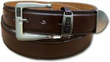 NEW MENS BROWN LEATHER LINED BELT STYLE 5055 SIZE 32-48
